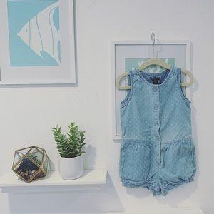 👧🏻NWT Baby GAP blue one piece romper 3T